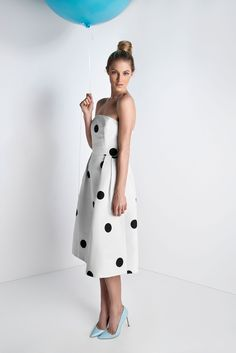 Silk Faille Strapless Cocktail Dress