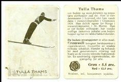 """Jacob """"Tulla""""Tullin Thams skihopper vant OL-gull i Chamonix 1924"""