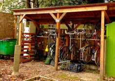 bike shed for behind front hedge