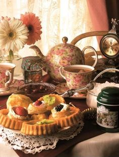 Tea time in the cottage.