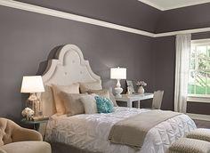 Benjamin Moore Paint Colors - Gray Bedroom Ideas - Cool Gray Bedroom - Paint Color Schemes