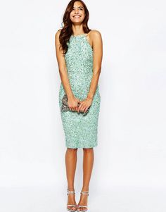 Sequin dress for a spring wedding guest