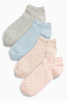 Next Multi Mini Dot Trainer Socks Four Pack £7