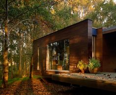 """Colours blend right in. Excerpt: Spectacular """"Forest House"""" designed by Crecente Rosales"""