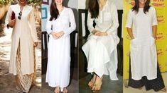 White Kurta With Palazzo || Daily wear White Kurti With Palazzo, Jeans |...