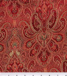 Brocade Fabric-Burgundy-Hunter Tapestry