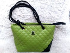 Quilted Leather. Lime Green n Black. | eBay!