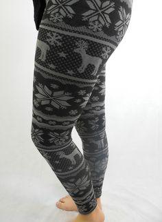 Reindeer Fleece Lined Leggings - BubbaJane's Boutique