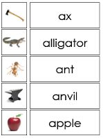 Montessori Language: Pink Level. Words with pictures. Free. This is a gold mine.