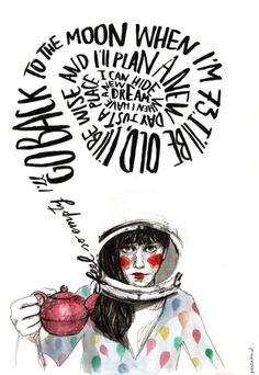 "Paula Bonet: Rithmes of an hour. Ilustraciones para ""Baden Baden"", ""Moriarty"", ""You&You"" y ""Thos Henley"". In Exhibitions © 2017 Paula Bonet Beauty Illustration, People Illustration, Pretty Drawings, Easy Drawings, Adara Sanchez, Paula Bonet, Collages, Arte Sketchbook, Cool Artwork"