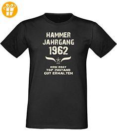 Mega trendiges humorvolles Happy-Birthday-Fun-t-shirt Geschenk mit Sprüche-Motiv: zum 54. Geburtstag Hammer Jahrgang 1962 Farbe: schwarz Gr: XXL (*Partner-Link)