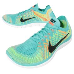 71755b61541fb Nike Free 4 Flyknit Running Hyper Jade Black Volt Electric Green