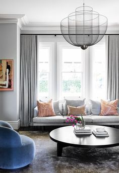 Modern living room with grey walls in heritage Sydney home. Modern Victorian, Victorian Terrace, Grey Walls Living Room, House Inside, Interior Decorating, Interior Design, Modern Coastal, Grand Designs, Minimalist Interior