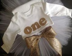 Blush Pink and Gold glitter girls first birthday outfit by ...