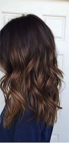 fall brunette hair color idea