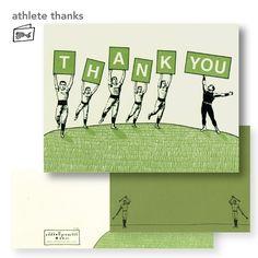 thank you card by oddball press