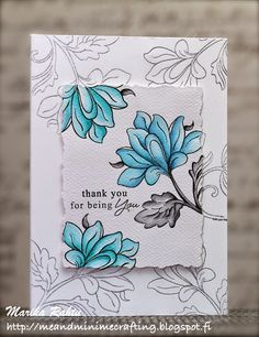Me and Minime crafting: Muse Challenge #92 and Fusion Card Challenge - Embossed Ombre