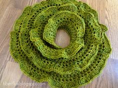 Free Crochet Pattern,  Arugula Scarf...she uses sock weight yarn and a larger hook for this lacy look. Very pretty!