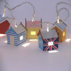 Fantastic fun retro lighting with British Seaside Beach Hut String Lights Seaside Bedroom, Seaside Theme, Seaside Decor, Seaside Beach, Seaside Wedding, Beach Hut Bathroom, Beach Room, Beach Play, British Beaches