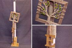 Λαμπάδα Βάπτισης Στολισμένη BC-004  Στολισμένη λαμπάδα βάπτισης διακοσμημένη με ονειροπαγίδα δέντρο ζωής και ξύλινο μονόγραμμα.Στην τιμή δεν συμπεριλαμβάνεται η βάση. Plant Hanger, Macrame, Home Decor, Decoration Home, Room Decor, Interior Decorating