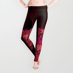 Faces Pattern Leggings