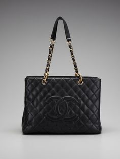 Chanel Quilted Caviar Shoulder Bag by Chanel on Gilt