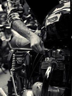 Triumph #motorcycle #men #style