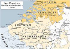 オーストリア継承戦争 Low Countries