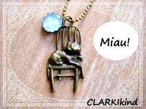Kugelkette Katze Bronze von CLARKIkind