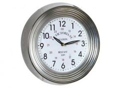 Reloj pared metal y blanco