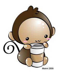 Monkey Coffee by Mishiri.deviantart.com on @DeviantArt