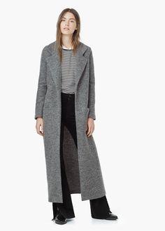 Wool overcoat - Coats for Women | MANGO
