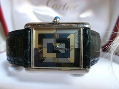 Must de Cartier Tank Art Deco pre-owned watch; 'Argent 925', serial number | eBay