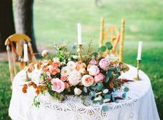 Ruffled - photo by Cara Robbins Photography http://ruffledblog.com/floral-inspired-treehouse-wedding