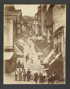 Entry to the Main Street of Pera, Armenia ca. 1870. Photographed by Guillaume Berggren (Swedish, 1835-1920), Los Angeles, courtesy of the Getty Research Institute.