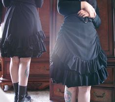 Dyi victorian mourning skirt