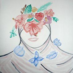 #creativemuslimwomen  #hijabifashion #watercolor#illustrations #artist #tunisians