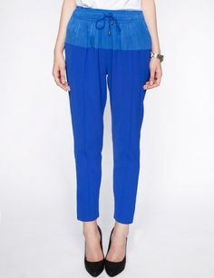 Cobalt sporty pants