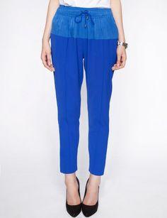 Cobalt sporty pants