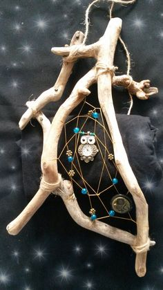 Woodland Guardian 'Owl and thee Butterflies'  by DreamsinDriftwood, £19.99