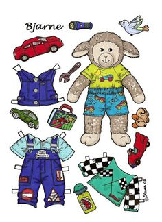 Karen`s Paper Dolls: Bjarne 1-2 Paper Doll in colours. Bjarne 1-2…