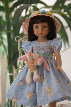 """Effner 13"""" Little Darling *SOME BUNNY LOVES YOU* Ens. by Ladybugs Doll Designs"""