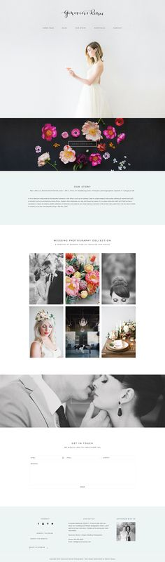 wedding photographer Genevieve Renee . Running on Station Seven's Coastal theme :) #wordpress #webdesign