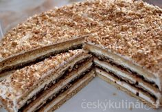 STAROČESKÝ MEDOVNÍK Torte Recepti, Czech Recipes, Easy Cake Decorating, Sweet Desserts, Creative Cakes, Carrot Cake, Cupcake Recipes, Food Hacks, Sweet Tooth