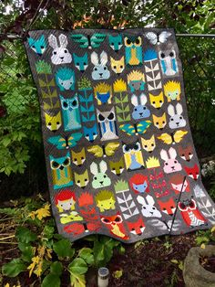 Fancy Forest pattern by Elizabeth Hartman. Made and quilted by Linda Nixon.