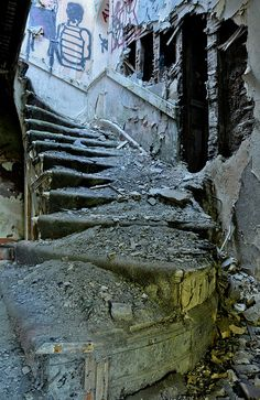 stairs ~ West Park Asylum  This scares me a little.  Captivating photo.