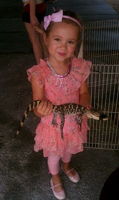 A princess and a gator!  Only in Florida!!!
