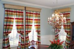 Custom Window Cornices, constructed of hardwoods: Walnut, Mahogany, Maple, Cherry, Maple and Poplar, which is great for painting!  (http://www.mantelcraft.com/window-cornices/colony-custom-wood-cornice/)