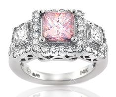 ☆ Pink Diamond Ring: Would like better w/a garnet, white diamond or sapphire in the center ☆