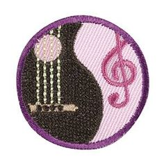 Girl Scout Junior Musician Badge. Check out the requirements in The Girl's Guide to Girl Scouting. Girl Scout badges $1.50.